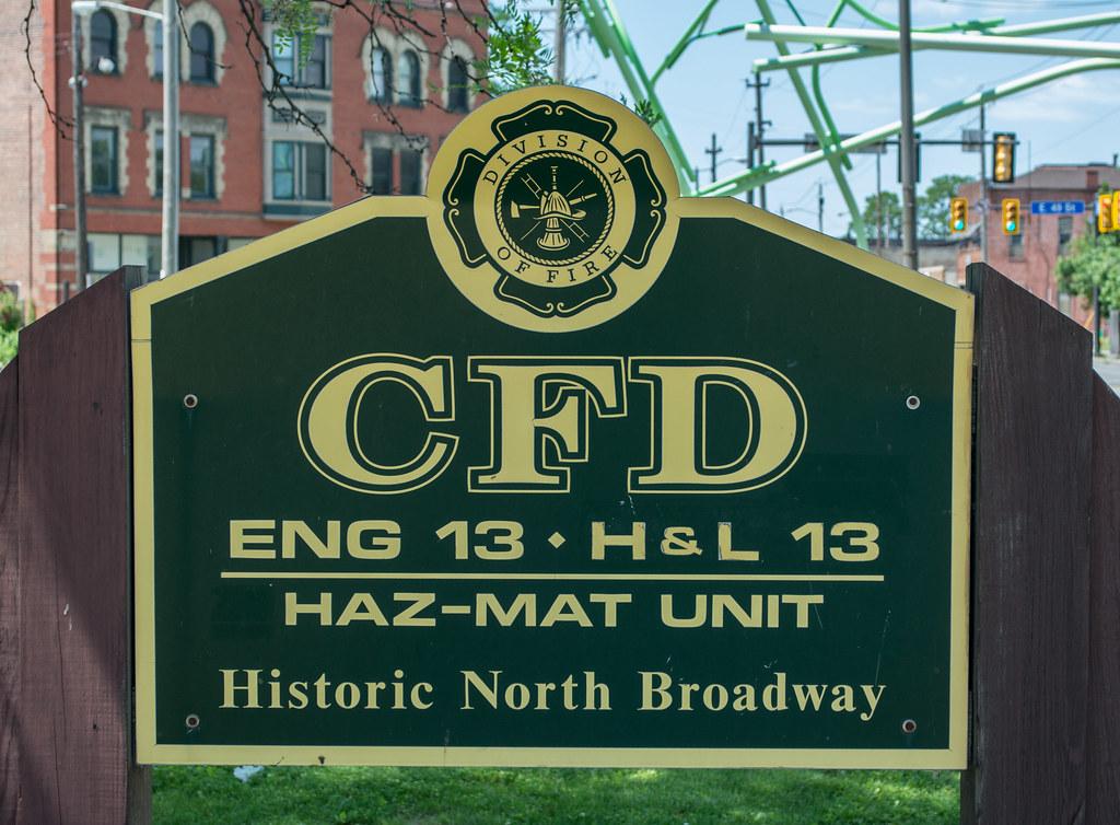 Fire Station 13 sign - Cleveland