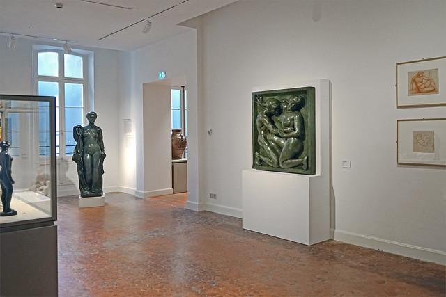 Une des salles consacrées à Aristide Maillol (musée d'art Hyacinthe Rigaud, Perpignan)
