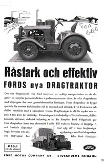 Ford dragtraktor annons | by 731132