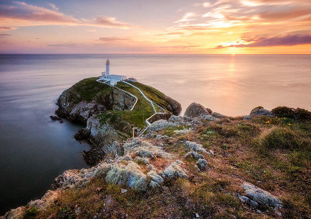 South Stack during sunset