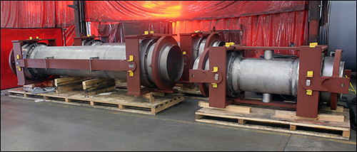 Double Gimbal Expansion Joints with 2-Ply Bellows for a Chemical Plant