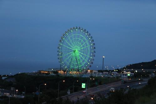 wheel expressway awaji island hyogo japan 淡路島 兵庫 淡路サービスエリア night view