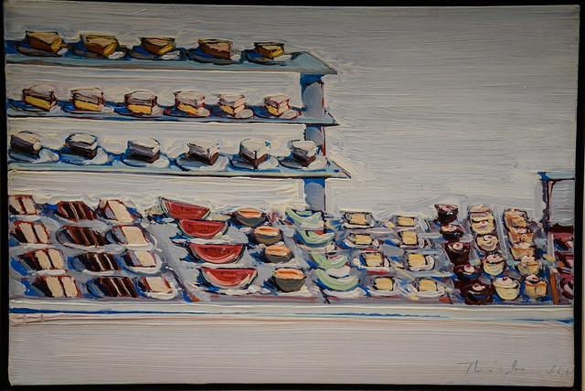 Wayne Thiebaud - Cafeteria Counter, 1961 at Saint Louis Art Museum - St Louis MO