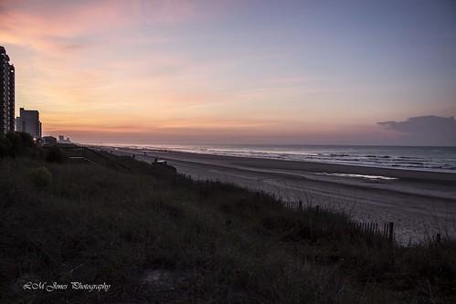morning travel beach sc water sunrise landscape dawn early sand view bright tide southcarolina rise tidal wyndham northmyrtlebeach 20150606myrtlebeachdawn
