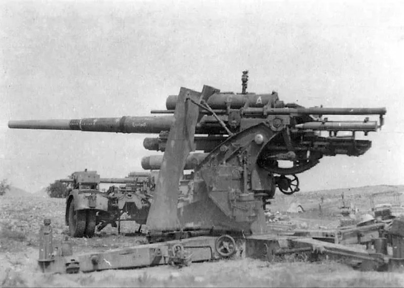 88mm gun Wehrmacht position in Lybia