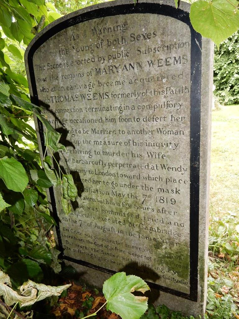 Mary Ann Weems grave (back) Huntingdon Circular (long)