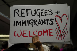 2017/01/28 SFO Airport #NoBan #NoWall #RefugeesWelcome Protest | by Daniel Arauz