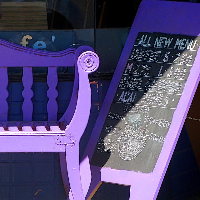 purple bench II