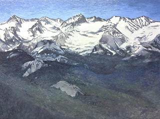 """""""Snowy Peaks of Sequoia"""" oil painting 