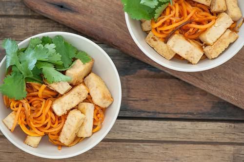Soy & Honey Tofu with Sweet Potato Noodles-2 | by jules:stonesoup