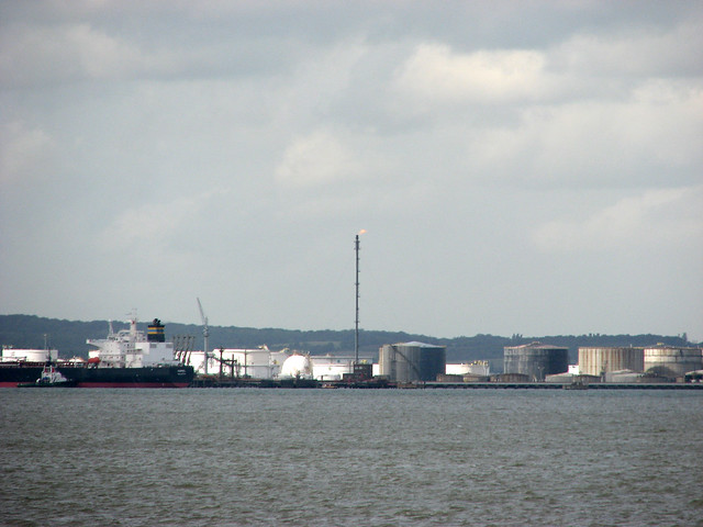 Oil storage depot at Canvey Island