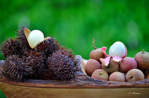 Rambutan fruit &litchi fruit