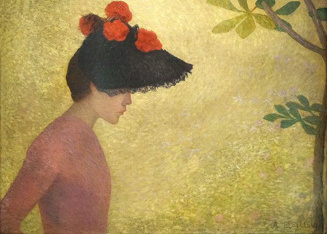Jeune fille de profil d'A. Maillol (musée Hyacinthe Rigaud, Perpignan)