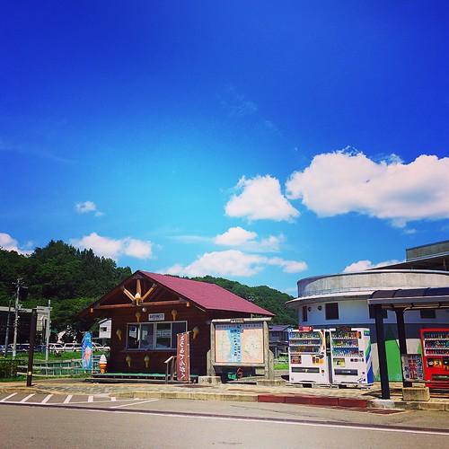 空 久慈 岩手 道の駅 道の駅白樺の里やまがた 日本 japan sky iwate kuji 青空
