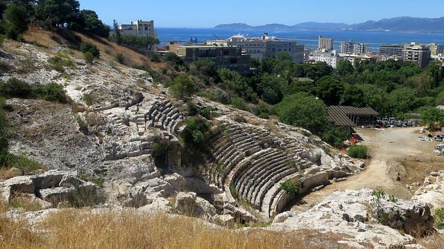 Remains of the Roman amphitheatre of Cagliari, Sardinia [Explore 13/07/2017]