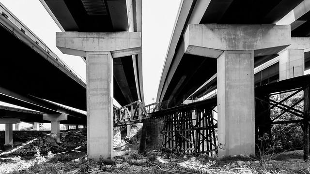 Abandoned Rail Road Bridge, Houston Texas