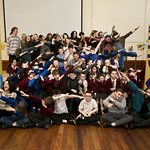 Participants of Schools Visual Arts Day dabbing! | © Eoin Carey
