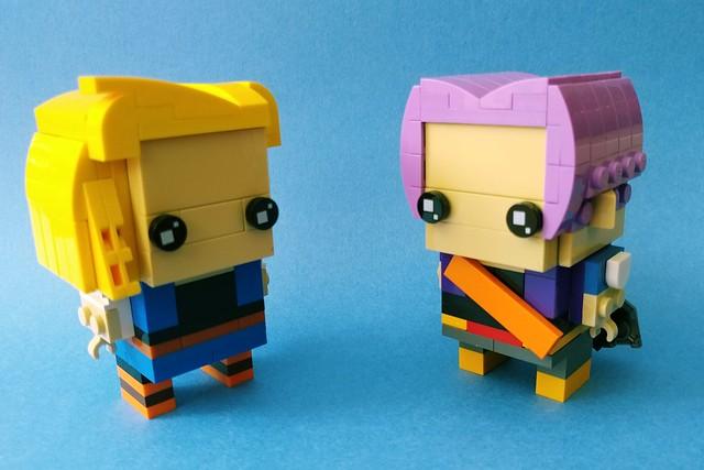 Trunks & Android 18 @ Dragonball Z (Brickheadz)