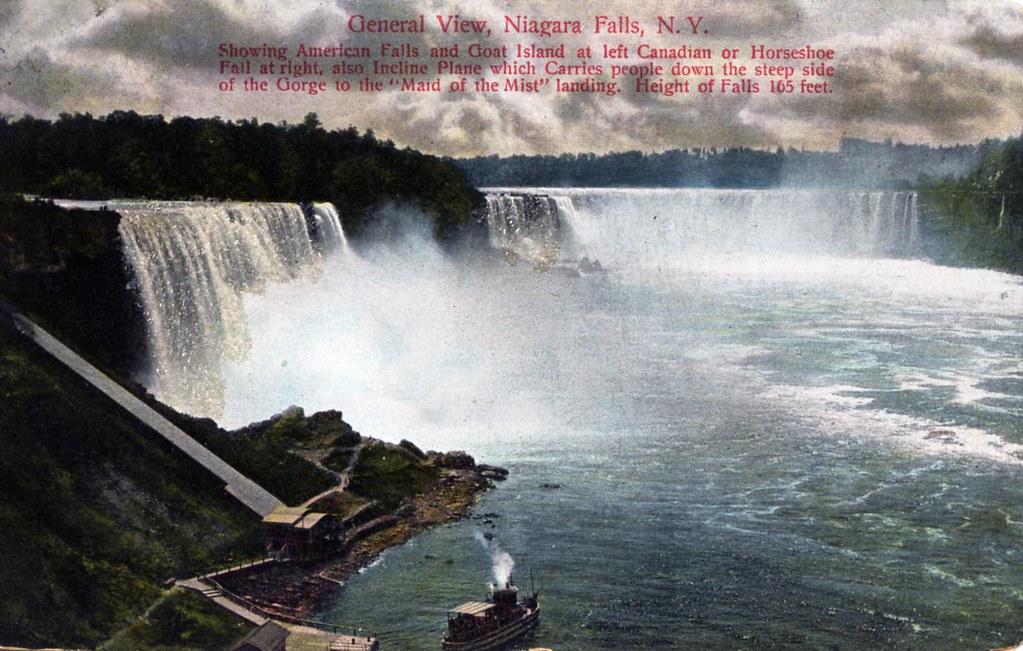 General View Niagara Falls Ny Undivided Back Silver Glit