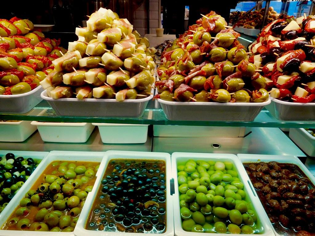 Tapas at Mercado de San Miguel - Madrid, Spain