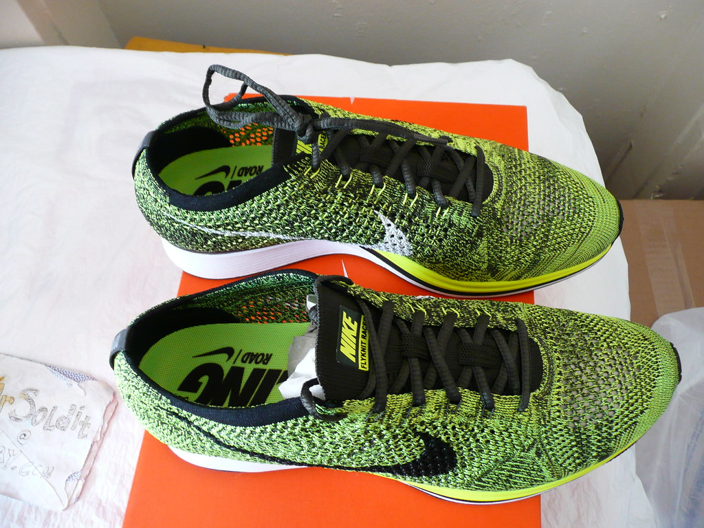 purchase cheap 23b81 9fc54 ... NIKE FLYKNIT RACER Size 11  volt-black-sequoia  (2016) 526628
