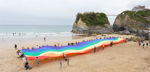 Flying the Flag on Towan Beach | by Cornwall Pride **Official**