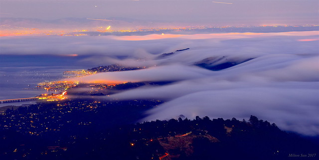 Fog Rolling into Bay Area|Marin County, California
