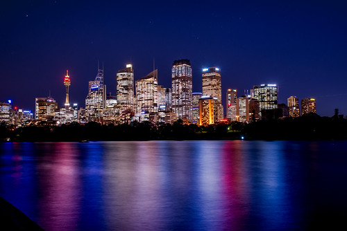bluehour longexposure nightphotography nikond610 scandiphotoclub sydney sydneyharbour water newsouthwales australia au