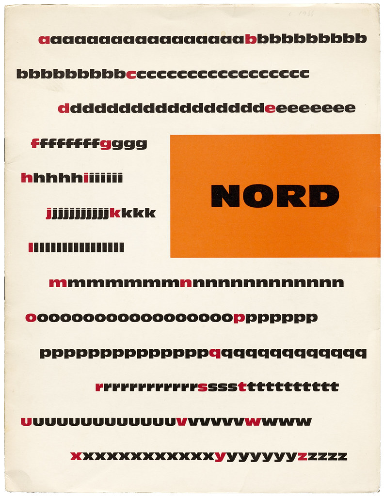 Nord (Antique Olive) specimen brochure   Flickr