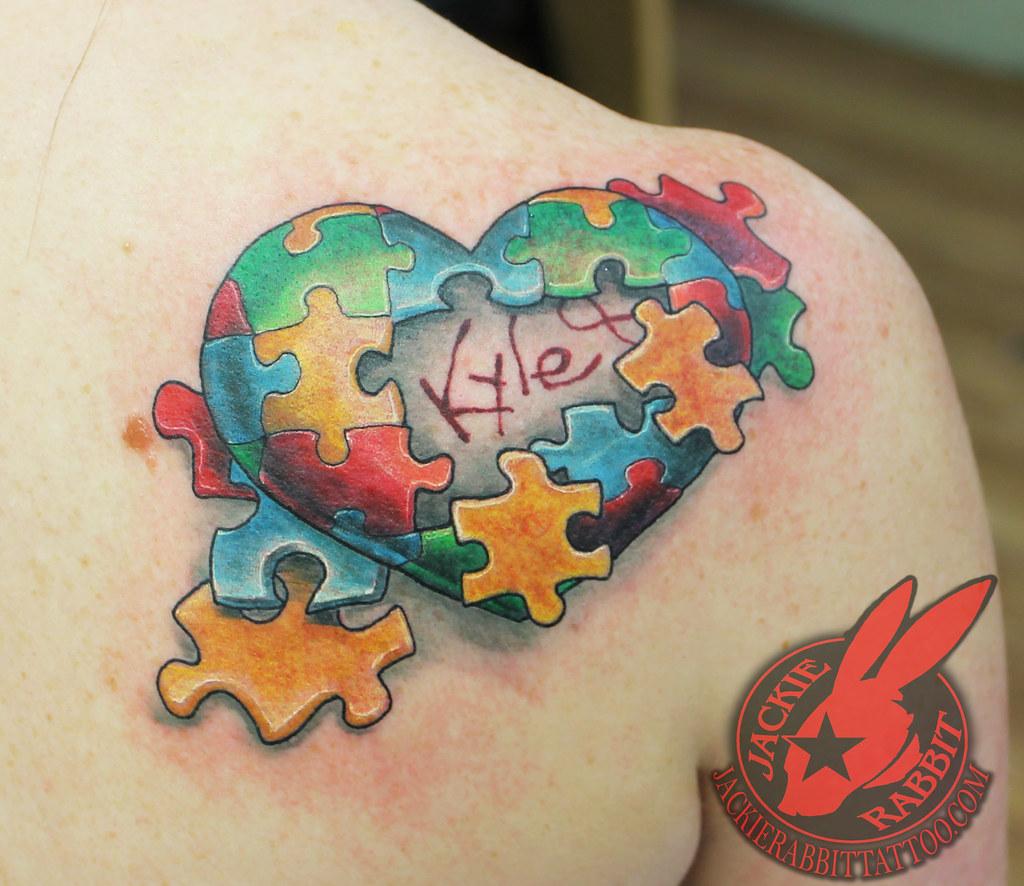 Autism Awareness Puzzle Piece Pieces Heart Color 3d Realis Flickr
