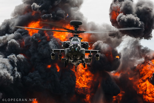 Apache on fire