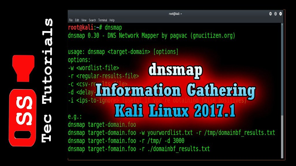 Dnsmap - Information Gathering on Kali linux 2017 1 | Ethi