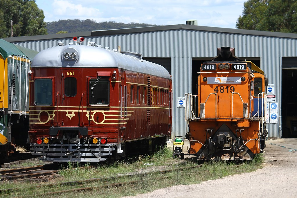 Preserved Railcar 661 at Lithgow by David Arnold