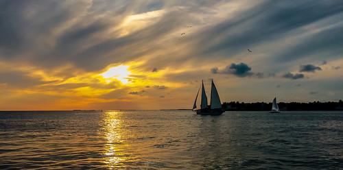 sunset keywest seascape seashore sailboat skies colors clouds waterways sea blue outdoors walkingaround walking travelling tropical urbanexploration