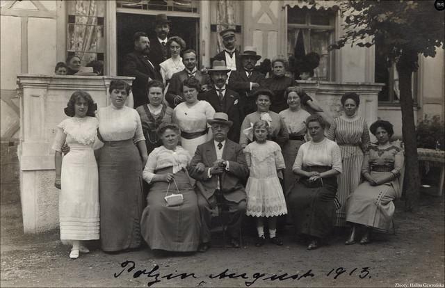 Polzin in Pommern - Familientreffen August 1913, Połczyn-Zdrój - spotkanie rodzinne