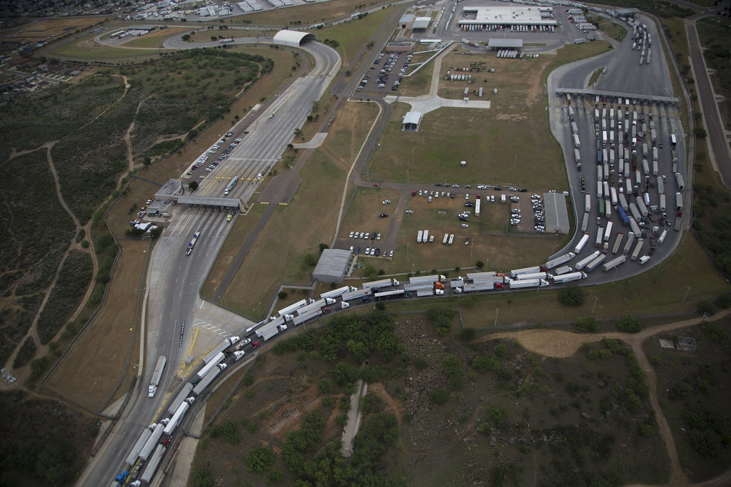 World Trade Crossing International Bridge in Laredo, Texas
