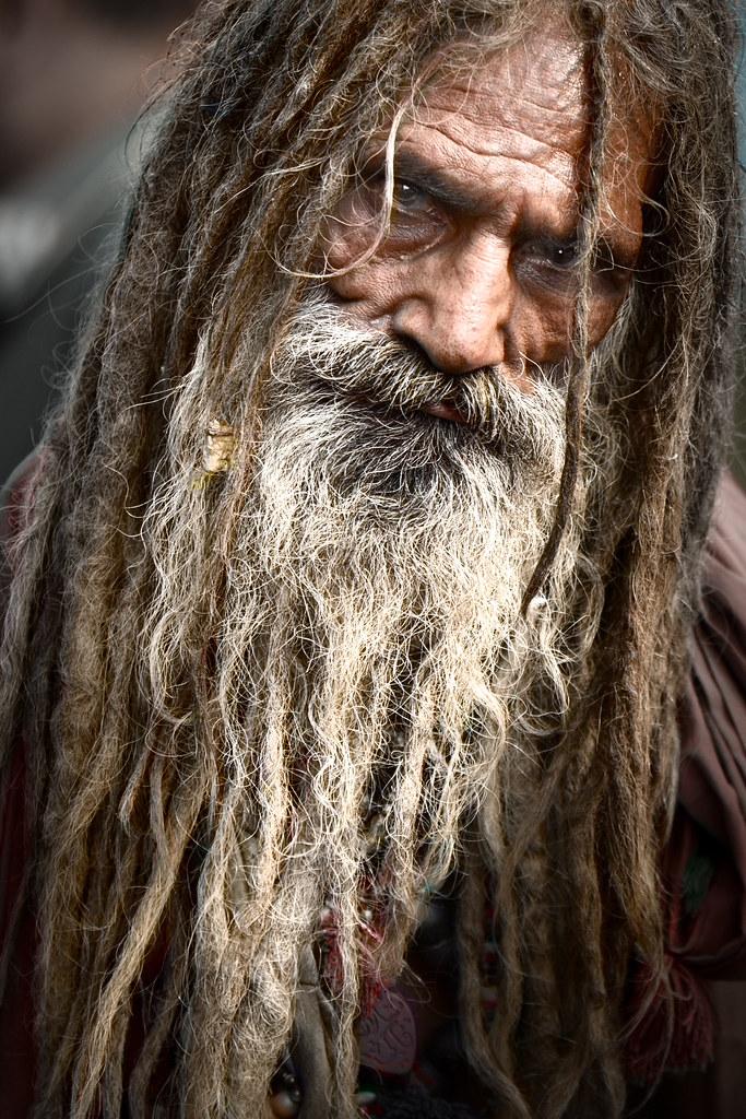 Angry Old Man At Shrine Of Madhu Lal Husain Zaigham