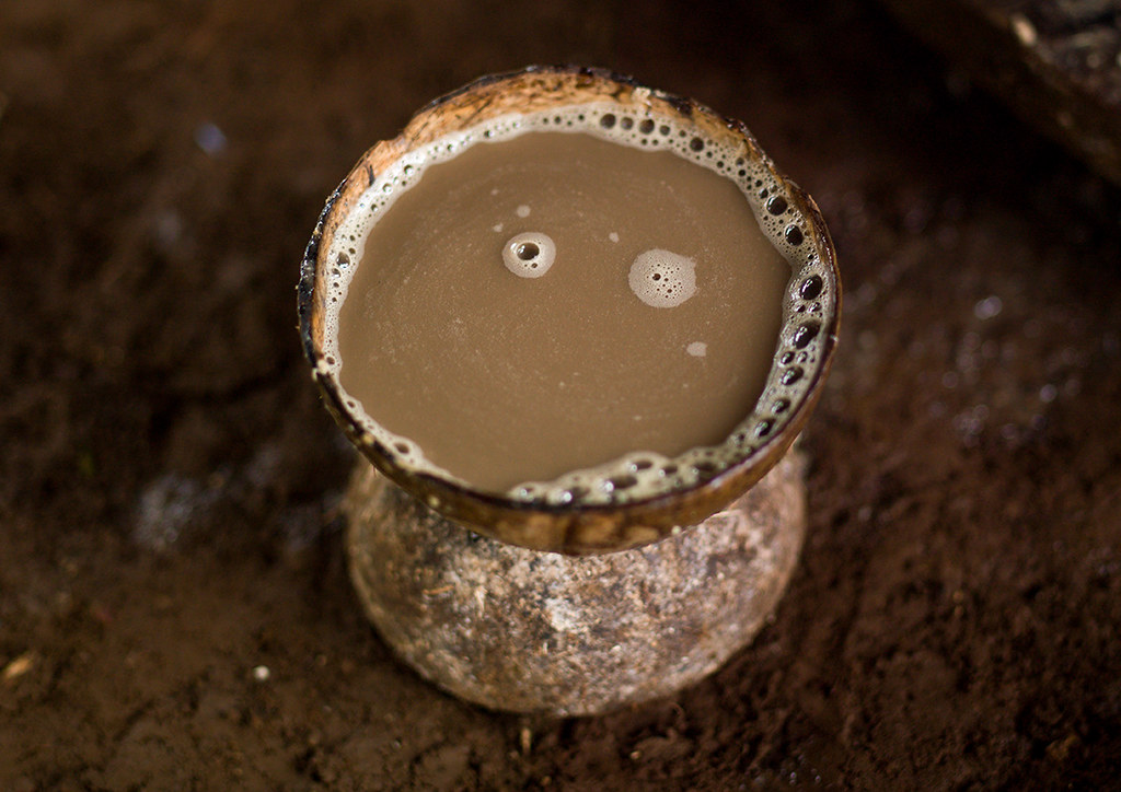 Kava to drink at a traditional ceremony, Sanma Province, E