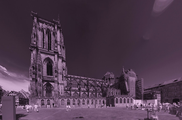 Cathedral of Our Lady, Strasbourg, infrared