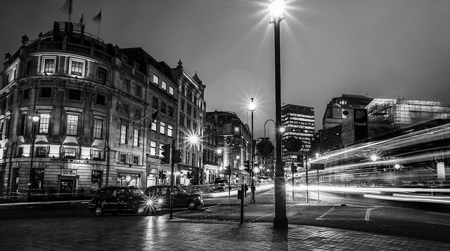 Trafalgar Square The Other Way by Simon Hadleigh-Sparks