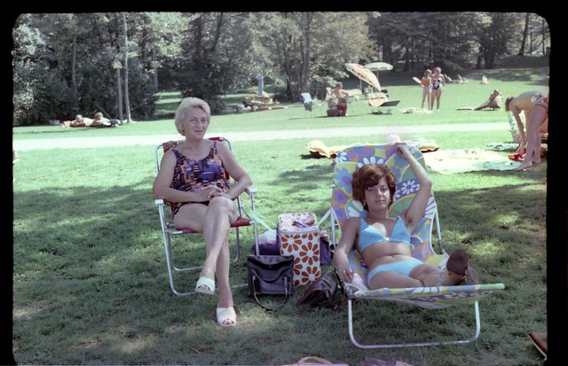 Flower prints at the park (c. 1975)