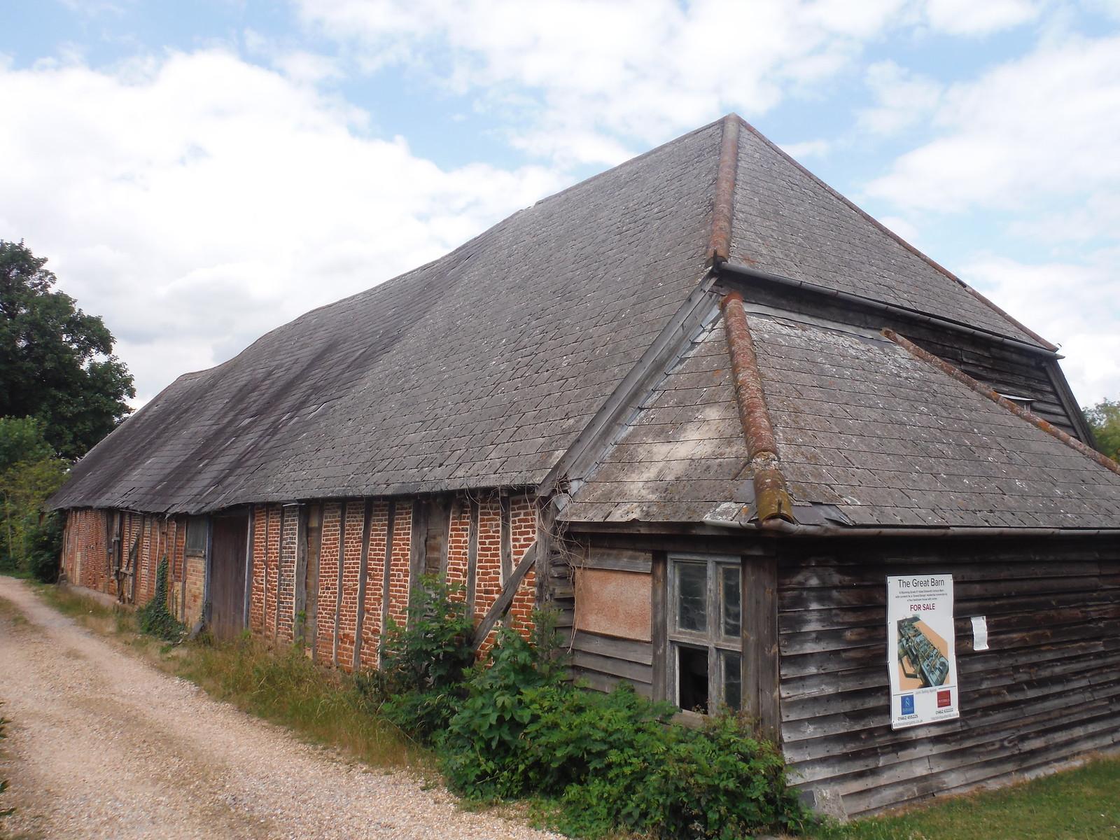 The Great Barn, Pirton SWC Walk 233 - Arlesey to Letchworth Garden City