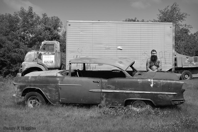 Old Truck, Car & Self.  DSC_5479