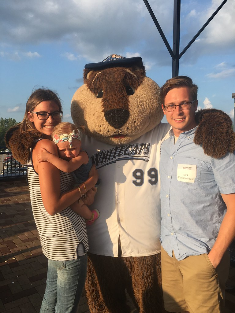 O-A-K Whitecaps Outing! Someone didn't want her picture taken with crash!
