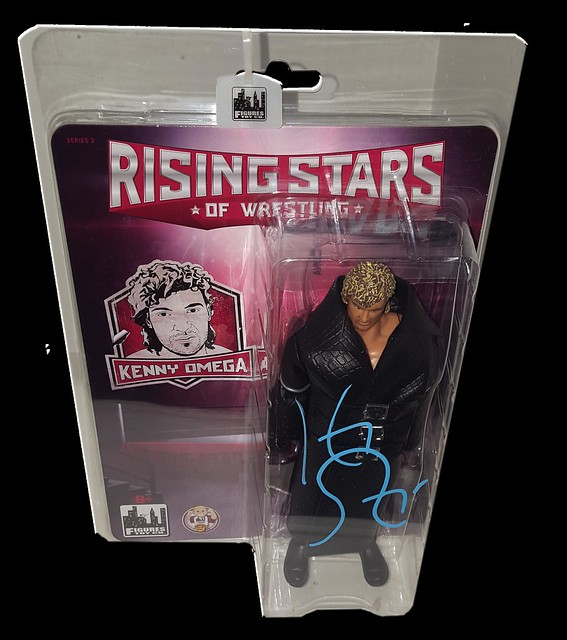 Kenny Omega Autographed Figures Toy Company Rising Stars Of Wrestling Figure