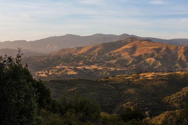 Illuminated hills in Los Padres National Forest (explored)