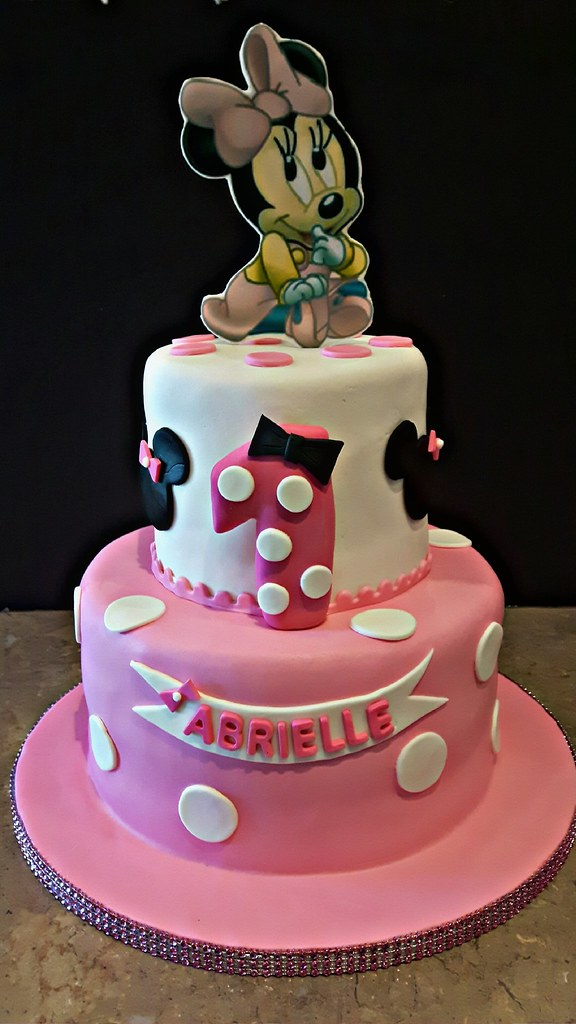 Astonishing Baby Minnie Mouse Cake Chocolate Flavors On Both Tier To Flickr Funny Birthday Cards Online Unhofree Goldxyz