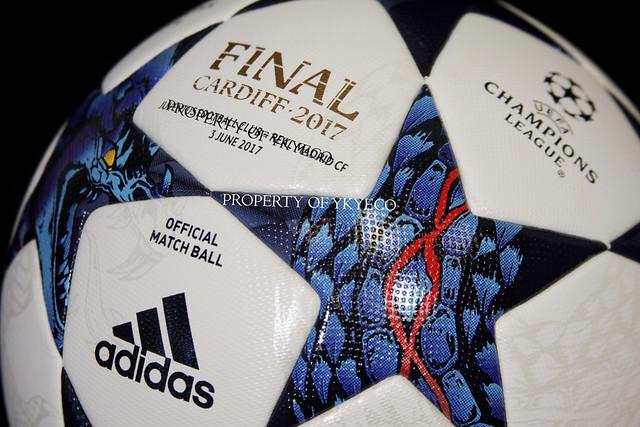 UEFA CHAMPIONS LEAGUE 2016-17 FINAL CARDIFF 2017 MATCH USED ADIDAS BALL, JUVENTUS FC VS REAL MADRID CF 16