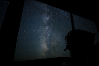 Milky Way in view of Middle Drum