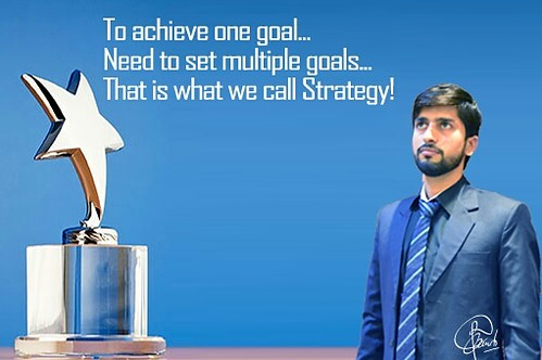 Once, we have set up a #goal (#aim , #purpose) in our #life , we need to start set up multiple ones...that multiple ones what we call #strategy for the completion of first one!